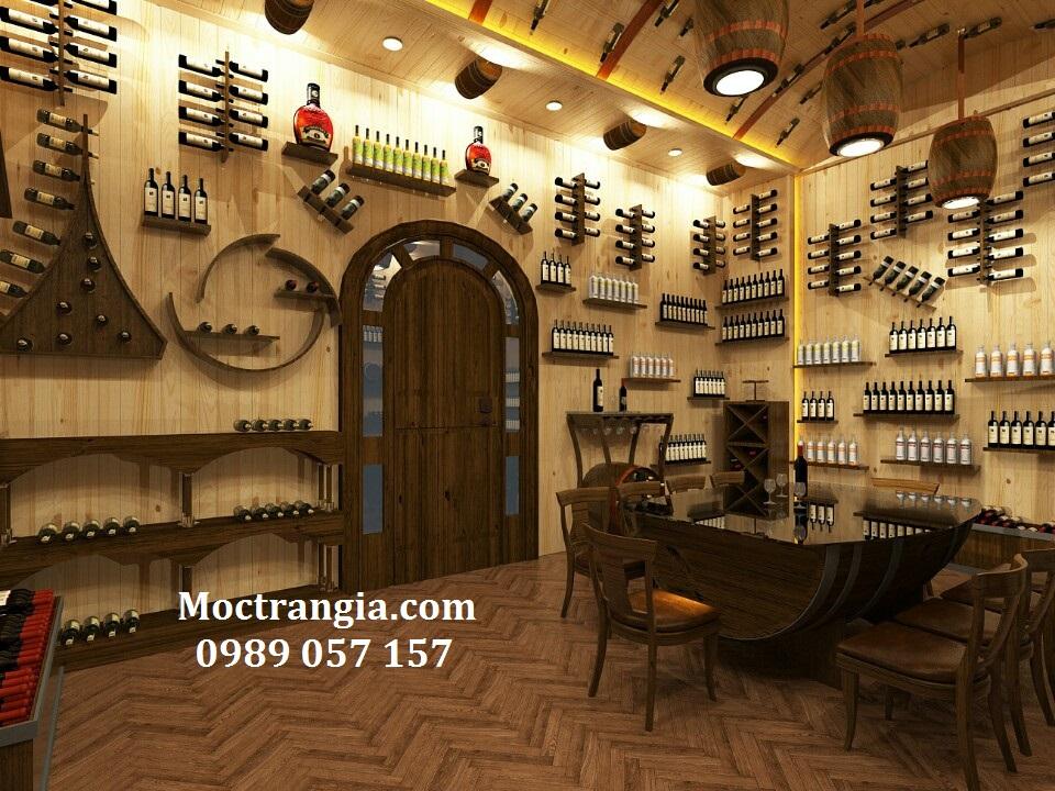 Thi Công Nội Thất Hầm Rượu_Moctrangia