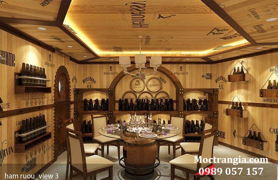 Thi Công Hầm Rượu Đẹp 085GT