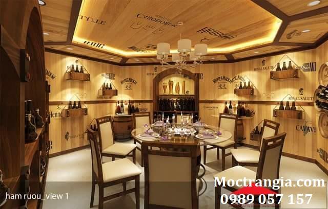 Thi Công Hầm Rượu Đẹp 086GT