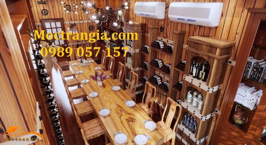 Thiết kế thi công nhà hàng hầm rượu trọn gói 1_Moctrangia.com