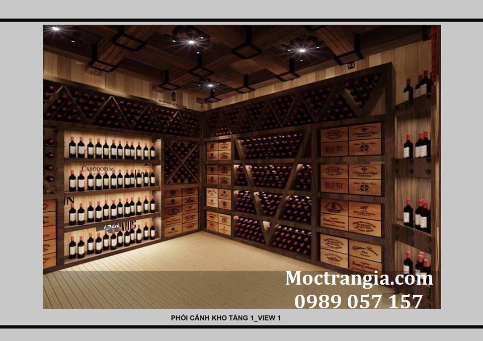 Thi Công Hầm Rượu Đẹp 122GT