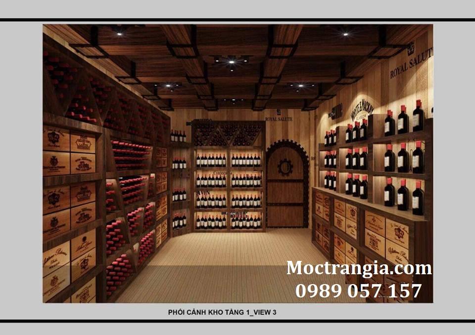 Thi Công Hầm Rượu Đẹp 124GT