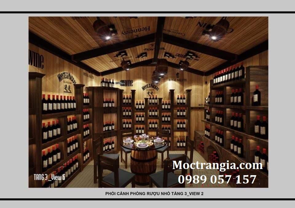 Thi Công Hầm Rượu Đẹp 127GT