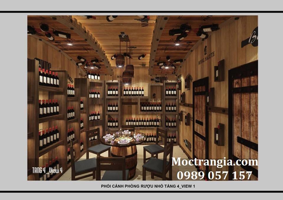 Thi Công Hầm Rượu Đẹp 130GT