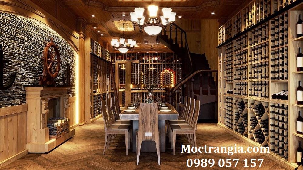 Thi Công Hầm Rượu Đẹp 177GT