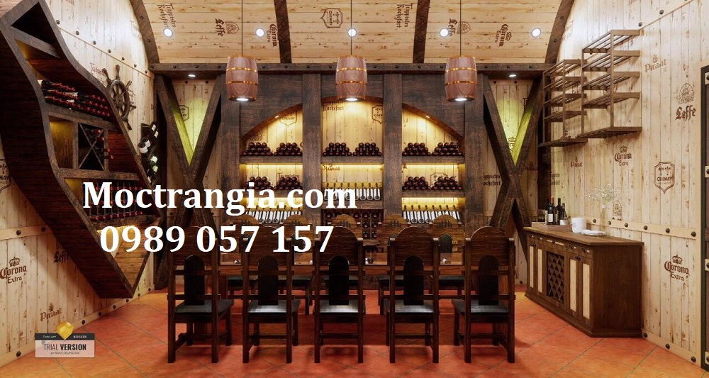 Thi Công Hầm Rượu Đẹp 528GT