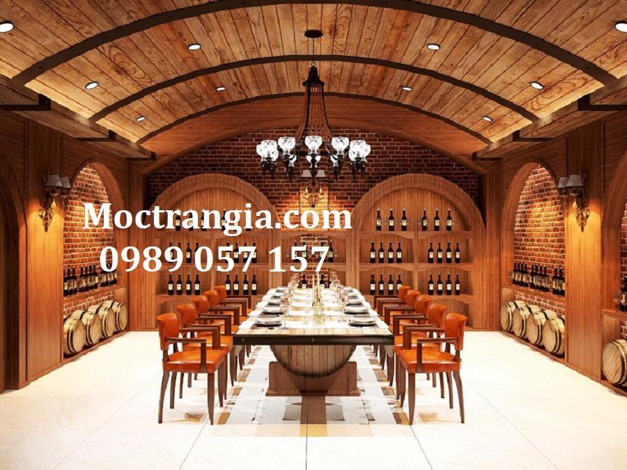 Thi Công Hầm Rượu Đẹp 544GT