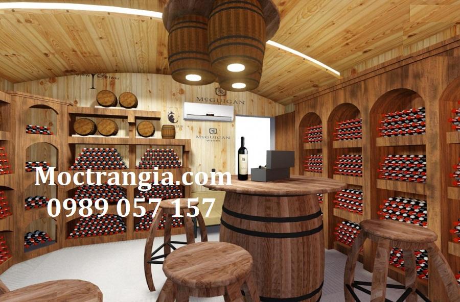 Thi Công Hầm Rượu Đẹp 560GT