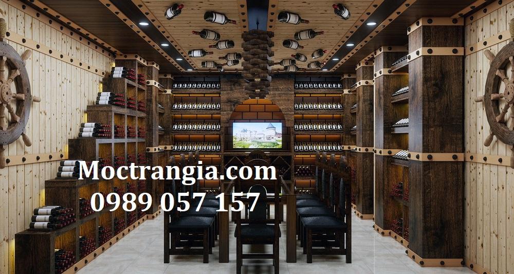 Thi Công Hầm Rượu Đẹp 586GT