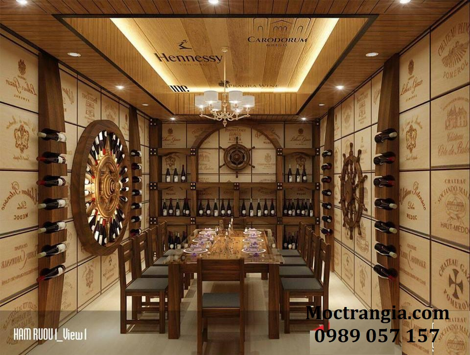 Thi Công Hầm Rượu Đẹp 100GT