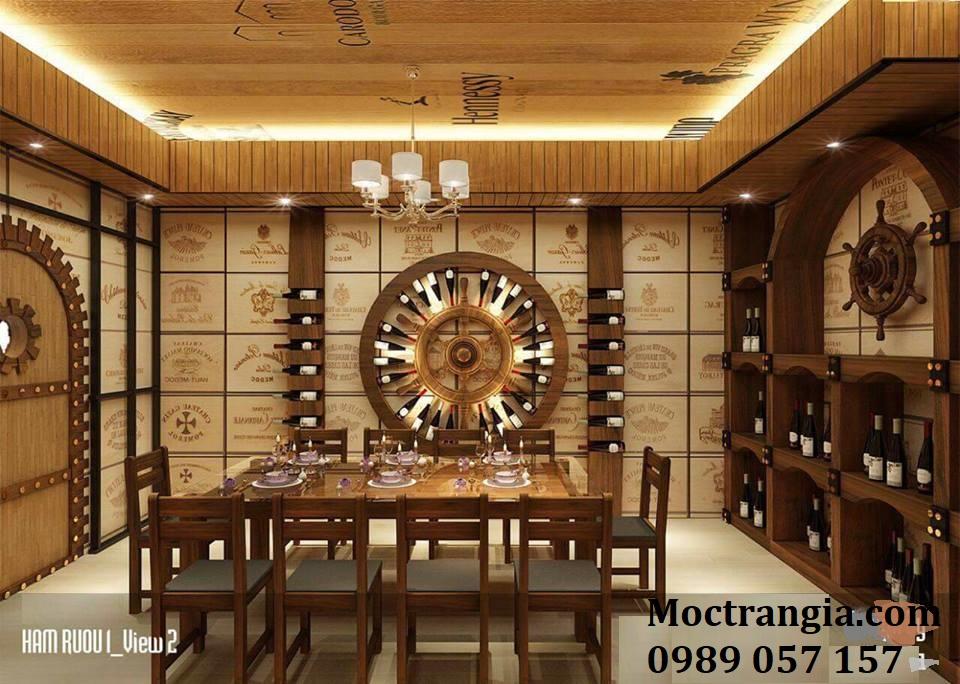 Thi Công Hầm Rượu Đẹp 101GT