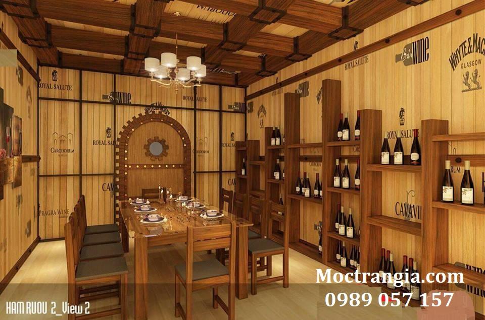 Thi Công Hầm Rượu Đẹp 104GT