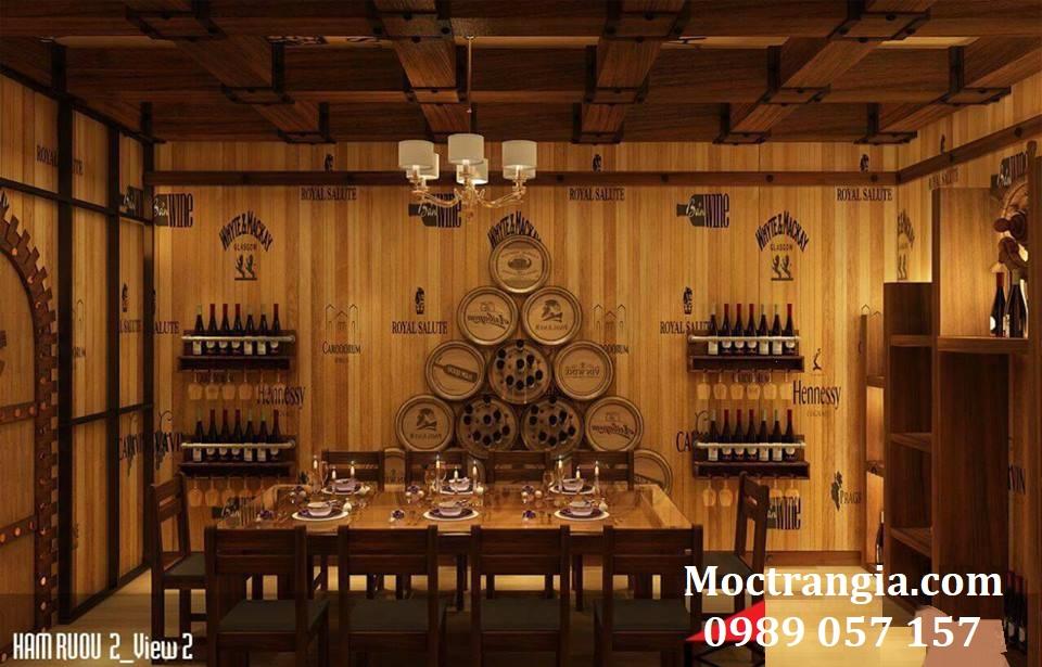 Thi Công Hầm Rượu Đẹp 105GT