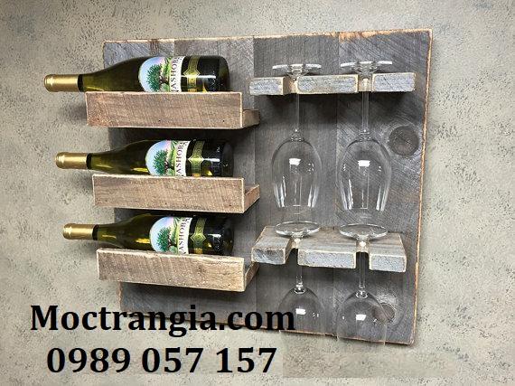Kệ Rượu Treo Tường 004GT