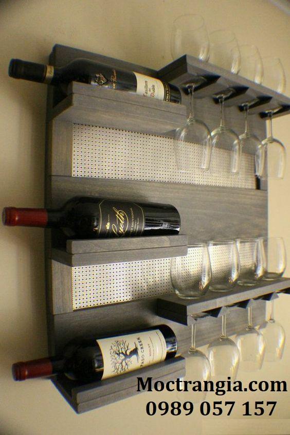 Kệ Rượu Treo Tường 007GT